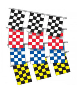 8mil Checkered Pennants Rectangle