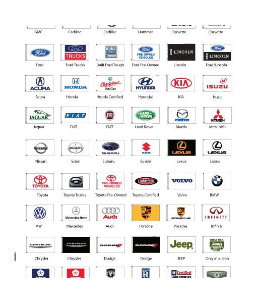 Cyn Flags Honda Auto Official Dealers Black Banner Flag