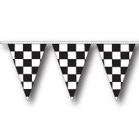 Black-White-CheckerPennants