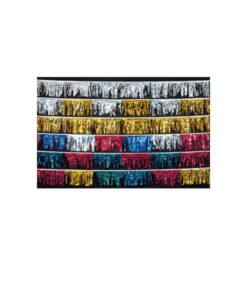 Metallic Full-Cut Fringe Streamers