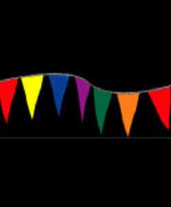 Plasti-Cloth Pennant Strings Fluorescent