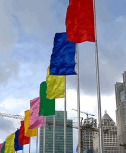 Vertical Flag – Solid Color