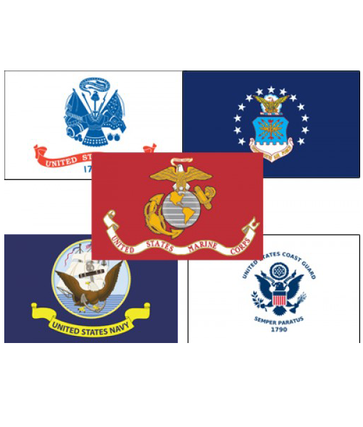 military flags all five branches hi tex flags advertising