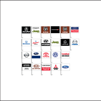 Window Auto Logo Flags