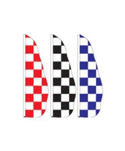 Nylon Checker Feather Flags