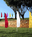 Feather/Flutter Flag W/Pole – Solid Color