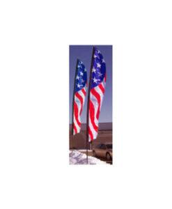 Feather Flutter Patriotic Flags W Pole