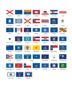 U.S. State Flags Complete Set