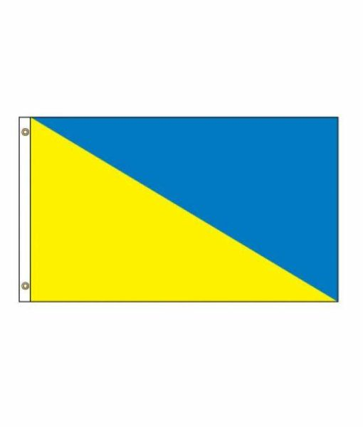 Horizontal Flag Diagonal Two Colors Hi Tex Flags